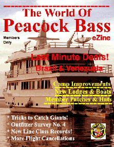 Peacock bass fishing - e-Zine cover
